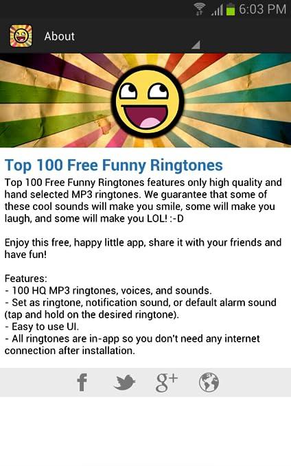 Best 100 Free Funny Ringtones