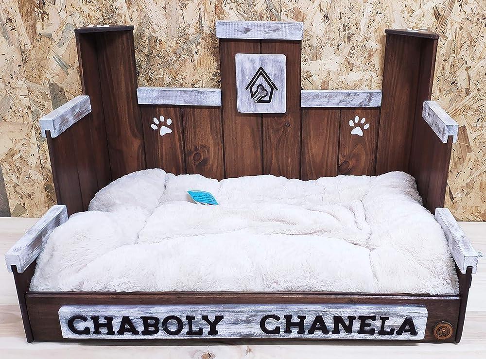 Cama para perro de madera MEDIANA (M): Amazon.es: Handmade