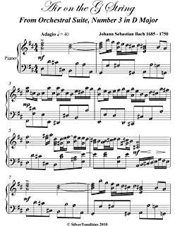 Air on the G String Bach Easy Piano Sheet Music - Kindle