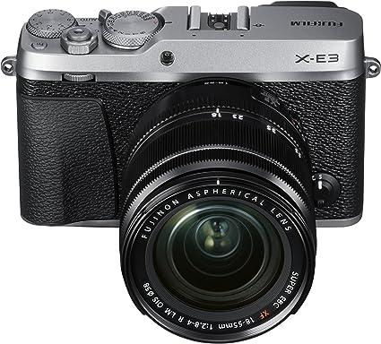 Amazon.com : Fujifilm X-E3 Mirrorless Digital Camera w/XF18-55mm Lens Kit - Silver : Camera & Photo