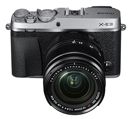 Fujifilm X-E3 24.3MP Mirrorless Digital Camera with 3x Optical Zoom (Black and Silver) Mirrorless System Cameras at amazon