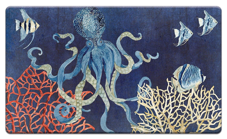 カウンターアート'インディゴocean-coral 'アンチ疲労フロアマット、30 x 20