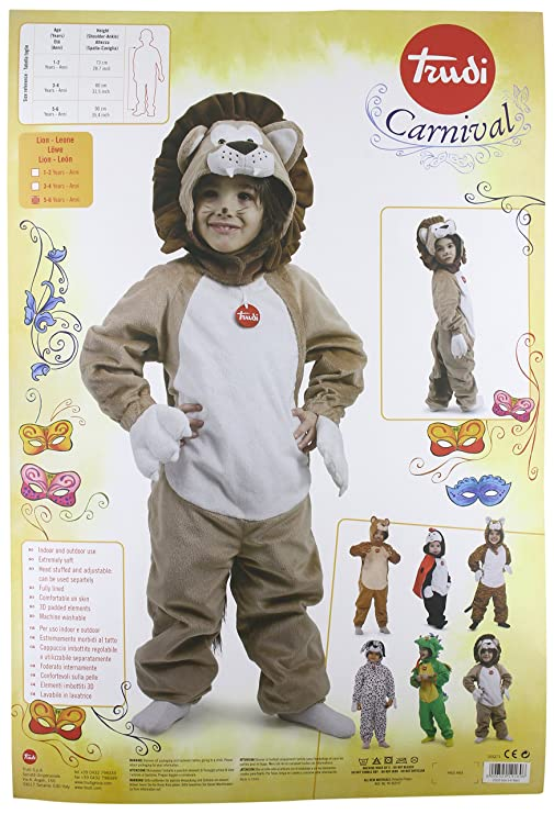 Trudi - 19169 COSTUME - Lion - 5 - 6 Years  Amazon.co.uk  Toys   Games 6c6b0cea5a2