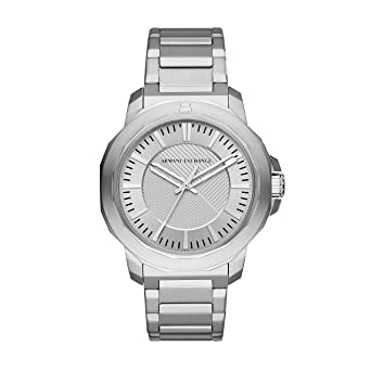 92540e495737 Image Unavailable. Image not available for. Color  Armani Exchange Men s  Analog-Quartz Watch with Stainless-Steel ...