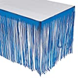 Fun Express - Blue Fringe Tableskirt for Party - Party Supplies - Table Covers - Table Skirts - Party - 1 Piece
