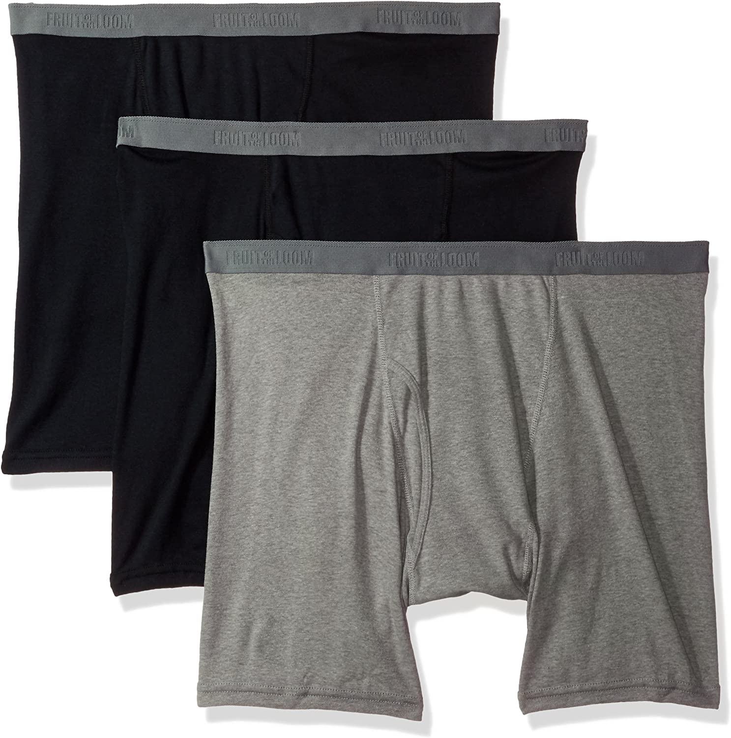 Fruit of the Loom Men's 3-Pack Big Man Premium Boxer Brief, assorted