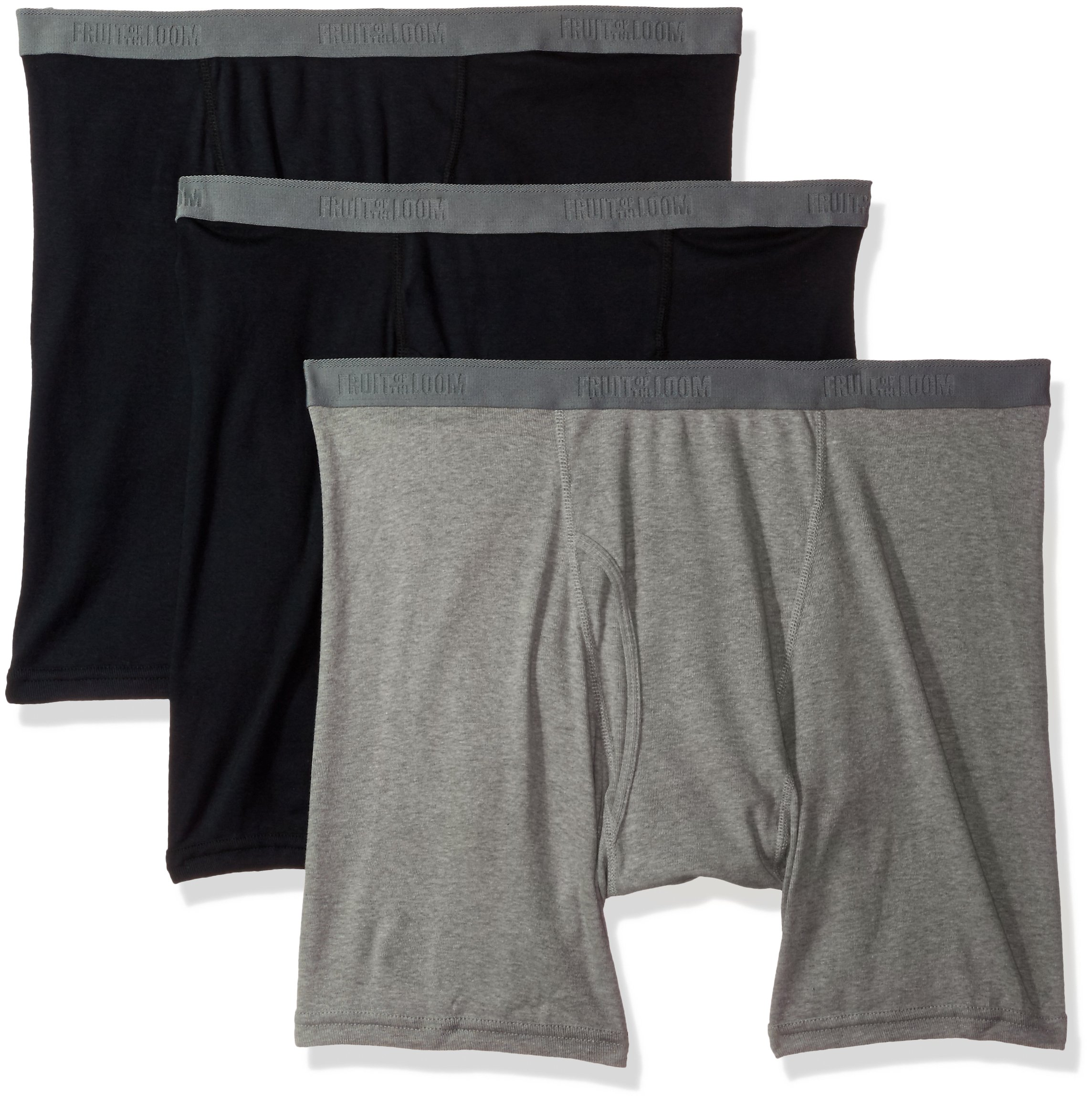 Fruit of the Loom Men's 3-Pack Big Man Premium Boxer Brief, Assorted, 3X-Large
