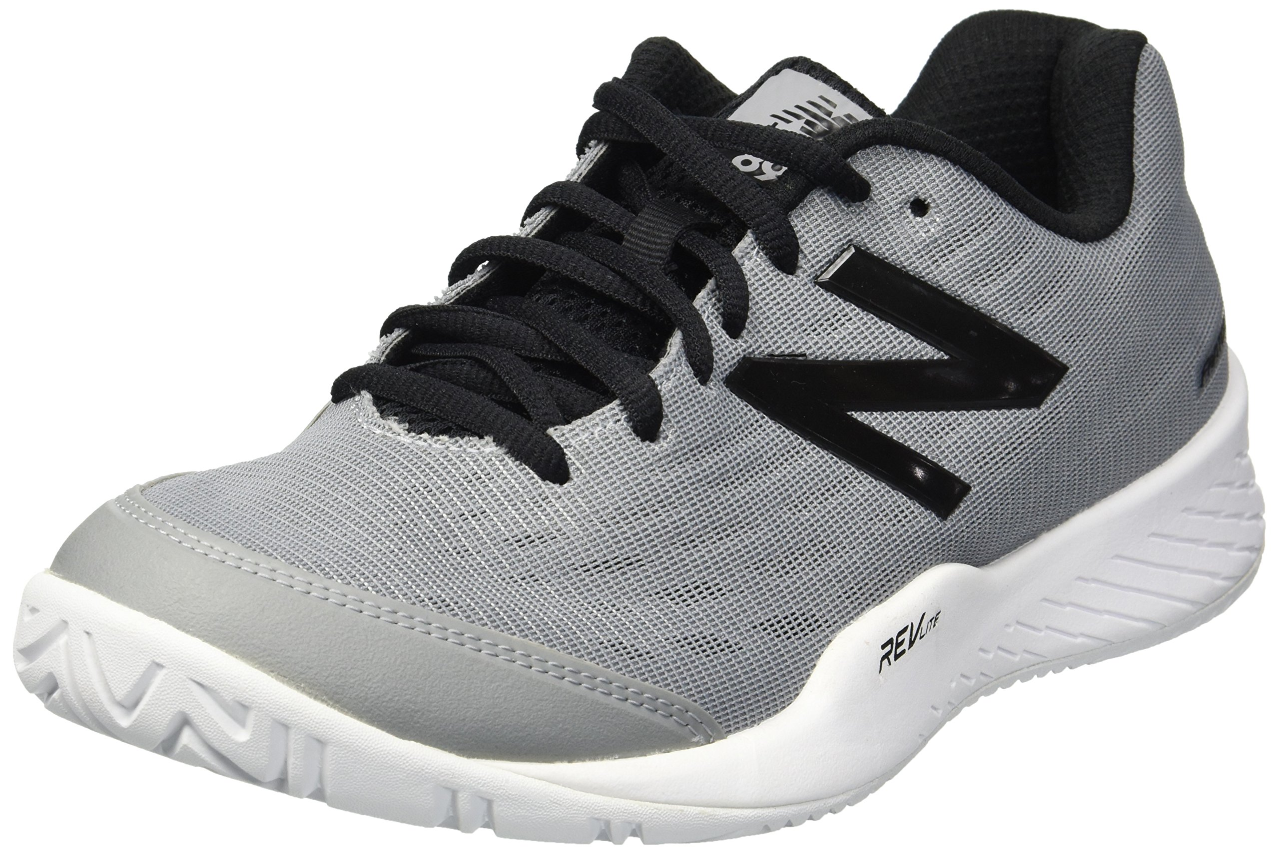 New Balance Men's 896v2 Hard Court Running Shoe, Grey/Black, 11 D US by New Balance