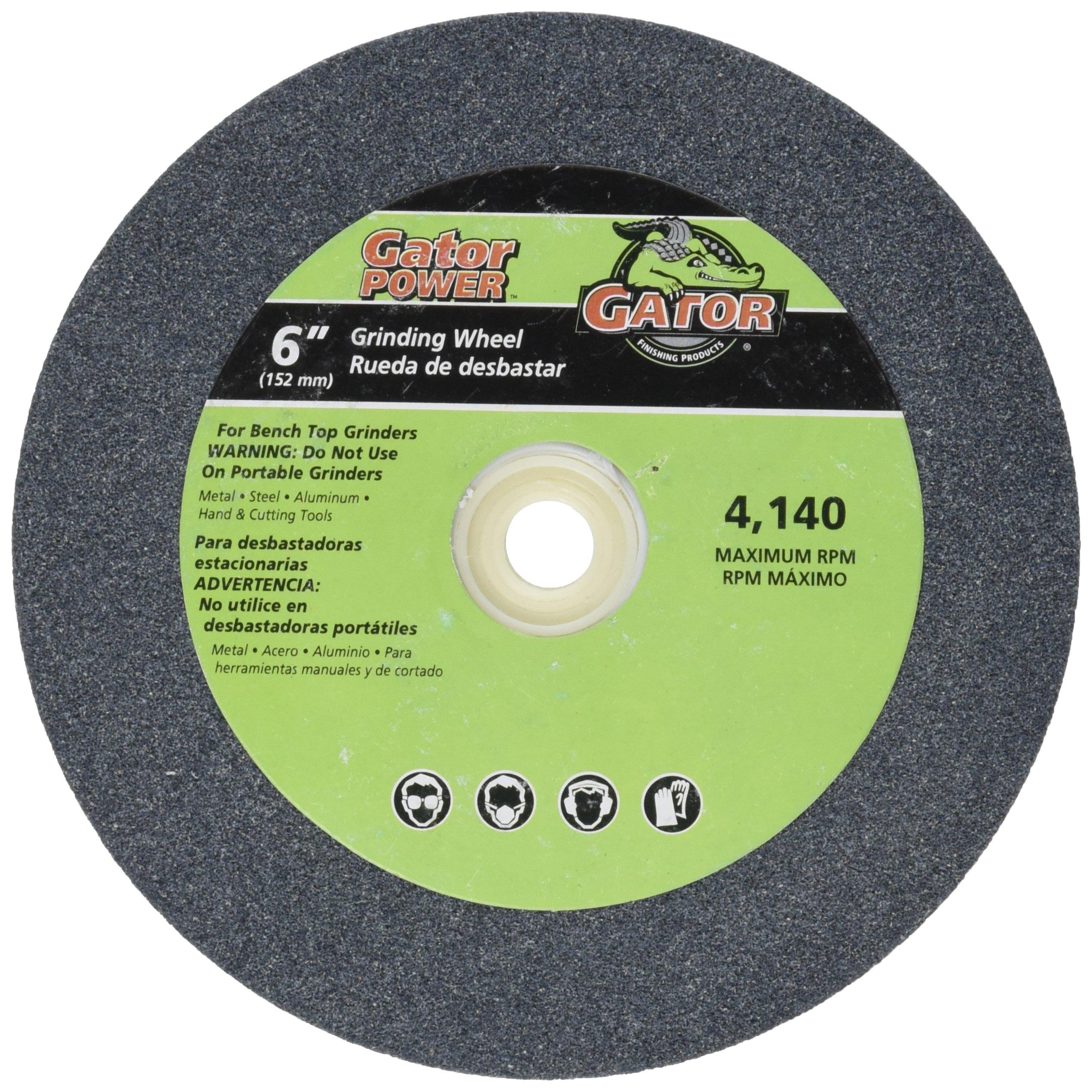 ALI INDUSTRIES 6011 Medium Grind Wheel, 6-Inch x 3/4-Inch x 1-Inch