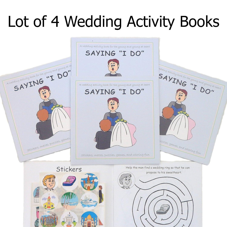 Amazon.com: Saying I Do, A Wedding Activity Sticker Book (Lot of 4 ...