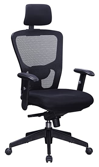 Fabulous Office Factor Black Mesh High Back Executive Office Chair Adjustable Arms Head Rest Seat Depth Lumbar Support Height Pu Casters Ergonomic Download Free Architecture Designs Oxytwazosbritishbridgeorg