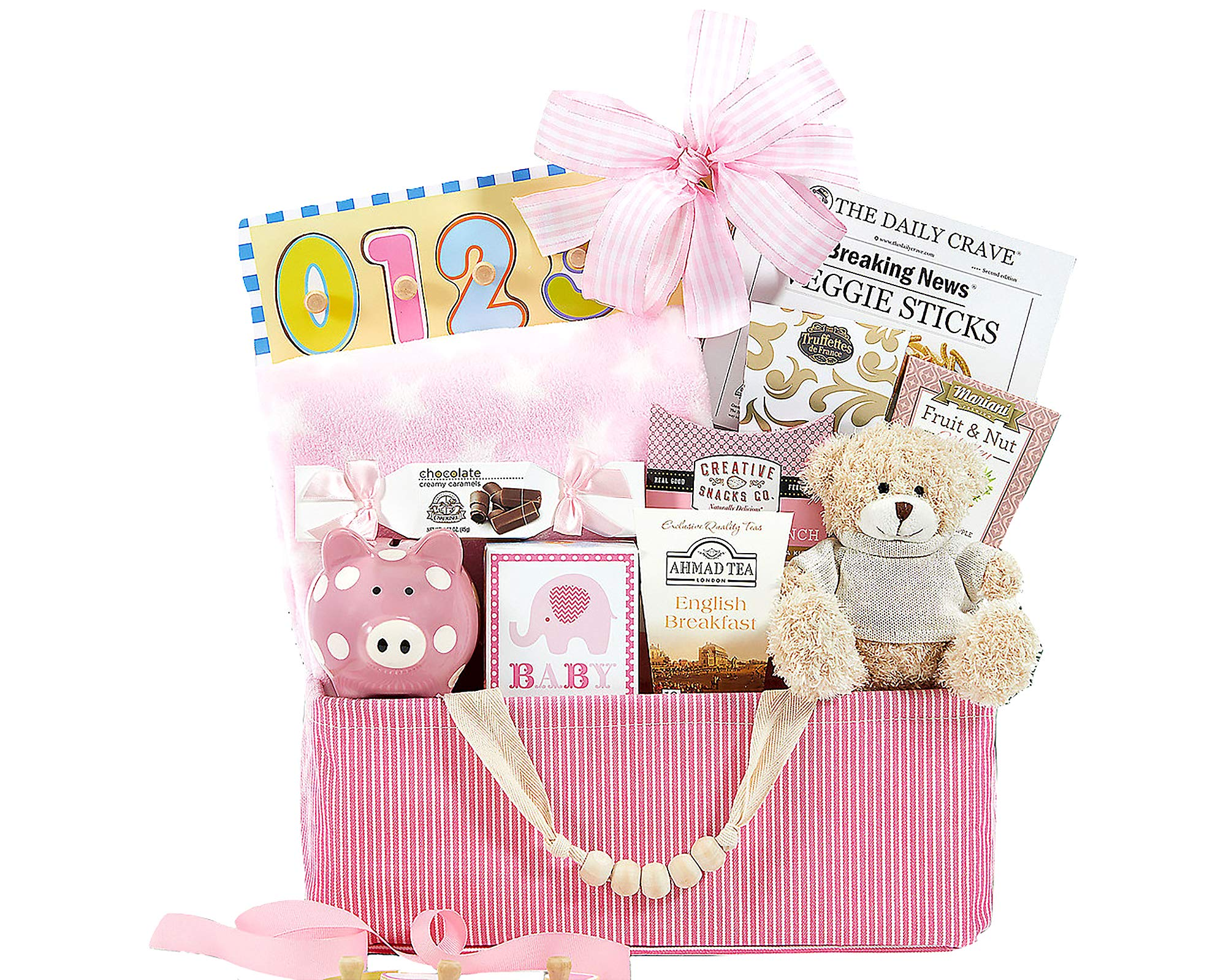 Bundle of Joy Pink Baby Girl Gift Basket