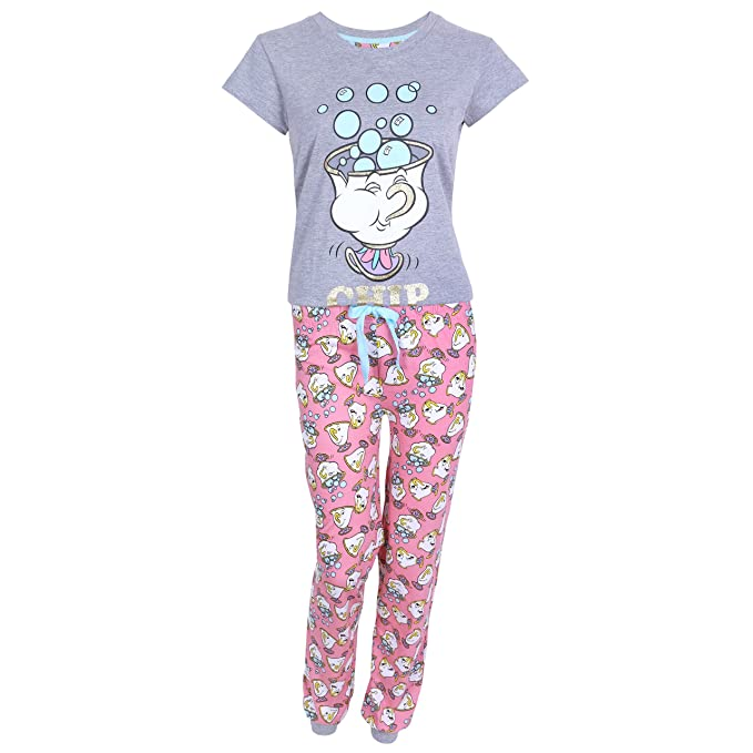 Pijama de color Coral-gris La Bella y la Bestia DISNEY - Small
