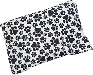 """Caylee's Creations Microwavable Corn Filled Heating Pad and Cold Pack/Washable 100% Cotton Cover (7.5""""Wx11""""L, Paw Prints)"""