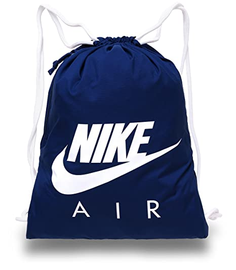5087a91a1 Amazon.com: Nike Heritage Gymsack Air (One Size, Blue): Sports & Outdoors