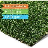 Gazon artificiel casa pura® Confort | herbe synthétique au mètre | pelouse, balcon, jardin, terrasse etc. | ultra résistant aux intempéries - 100x133cm