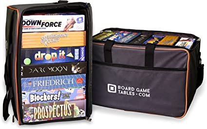 Board Game Bag Backpack Luggage Slip Padded Board Game Carrier Oxford Gray Toys Games