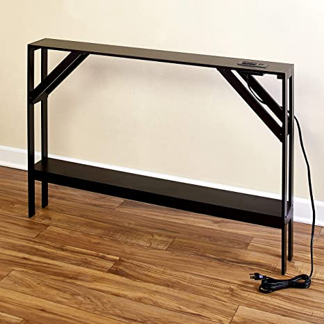 Marvelous Skinny Sofa Table With Outlet Modern Accent Table With Black Finish Caraccident5 Cool Chair Designs And Ideas Caraccident5Info