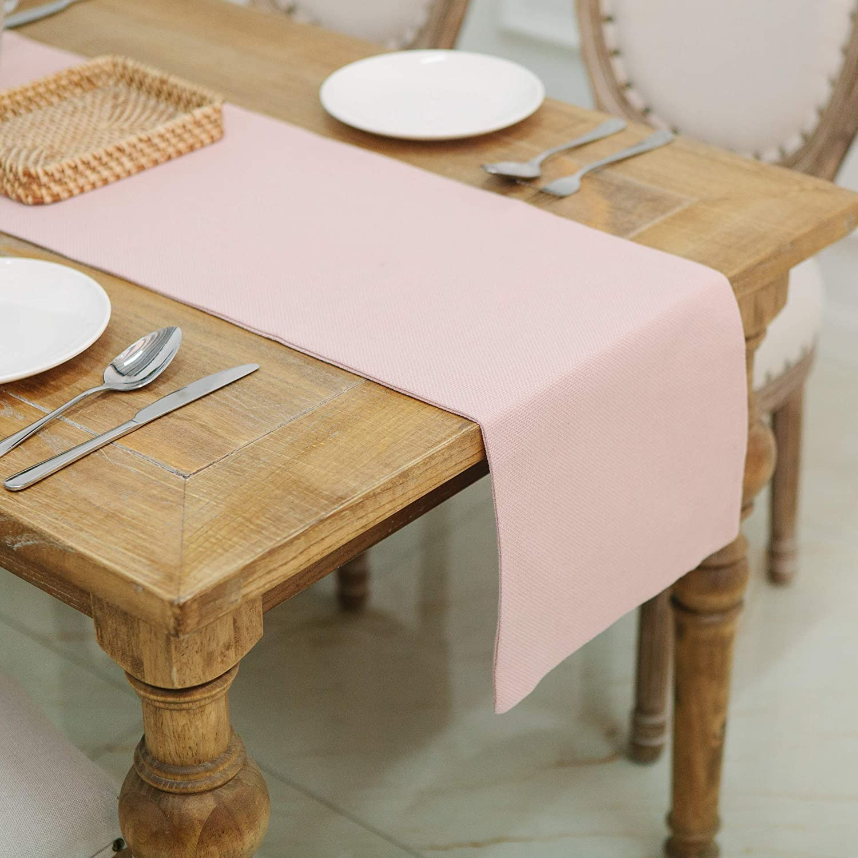 Surprising Natus Weaver Dining Table Runner 12 X 36 Inches Kitchen Room Dinner Wedding Birthday Party Burlap Rustic Table Runner Baby Pink Download Free Architecture Designs Intelgarnamadebymaigaardcom