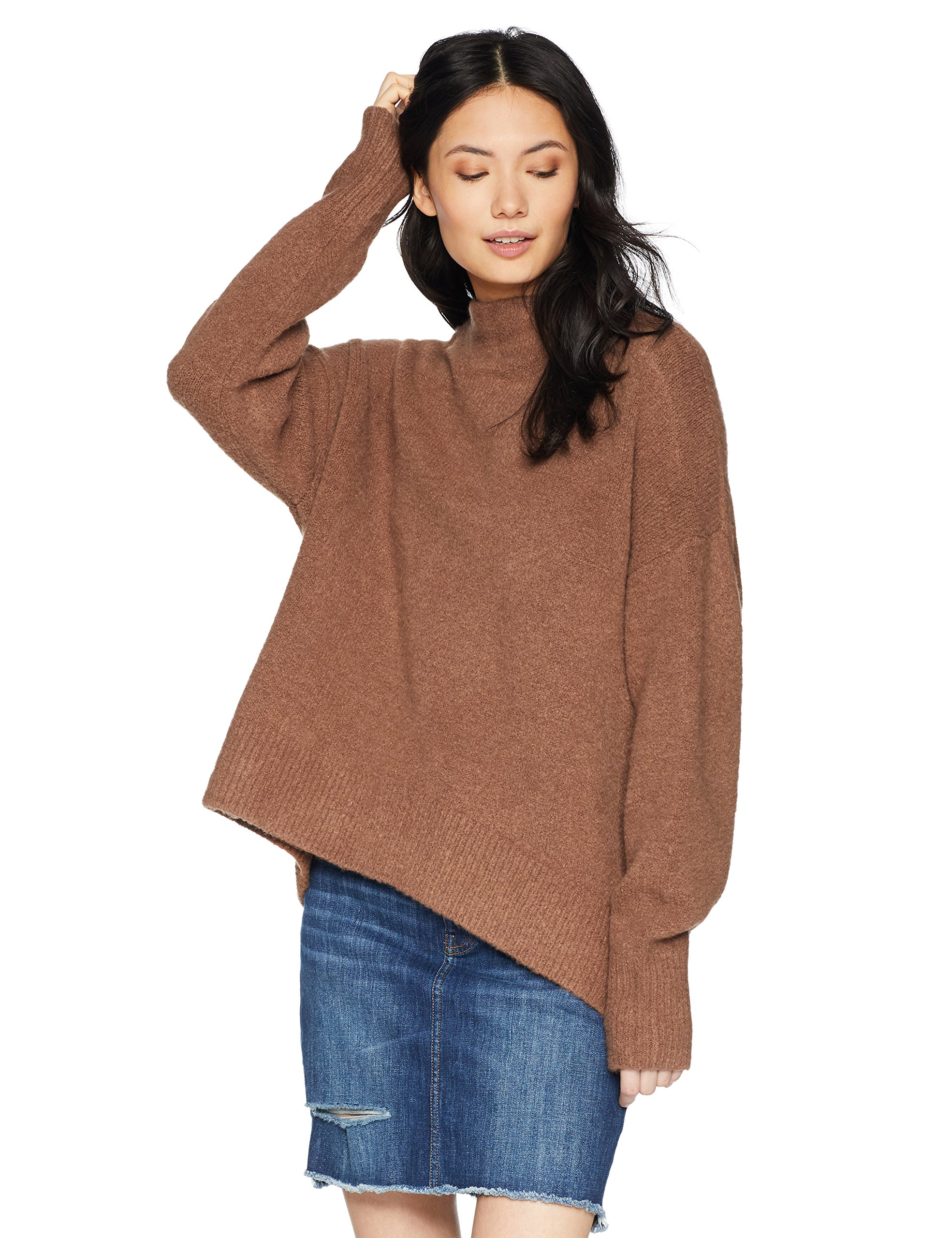 Cable Stitch Women's Mock Neck Cozy Sweater Large Caramel by Cable Stitch