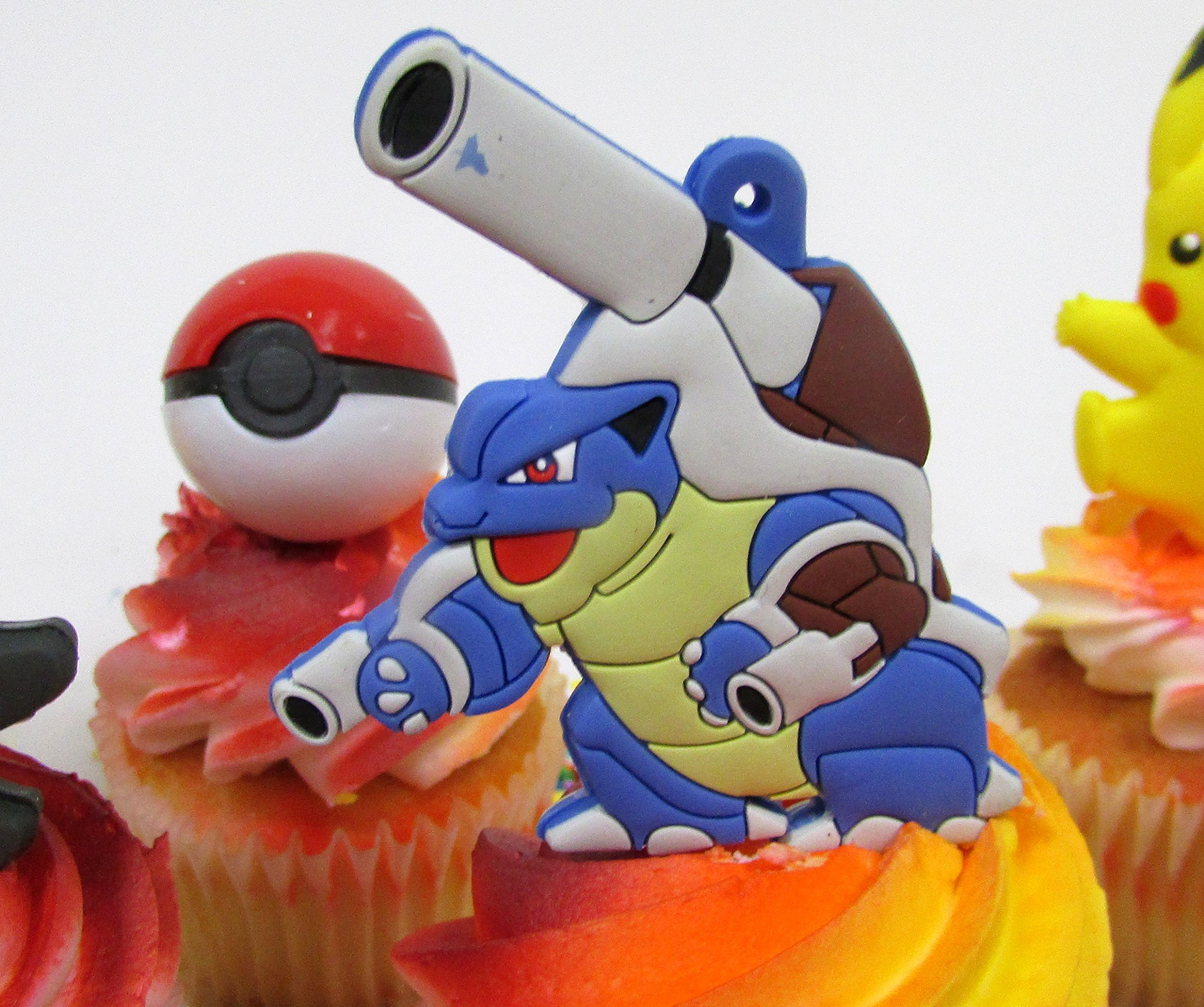 Pikachu and Friends Cupcake Topper Set with 6 Random Pocketmonster Characters and 6 Poke Balls by Cupcake Topper (Image #4)