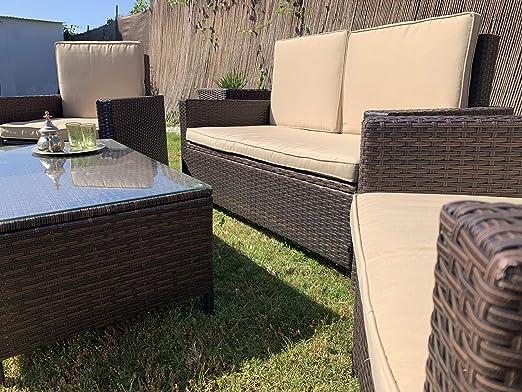 Kiefergarden Florida Conjunto de sofá Doble y Dos sillones ...