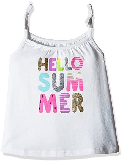 156808a4531c8 The Children s Place Baby Girls  Sleeveless Tie-Strap Tank Top  (2063616 Simplywht 18-24M