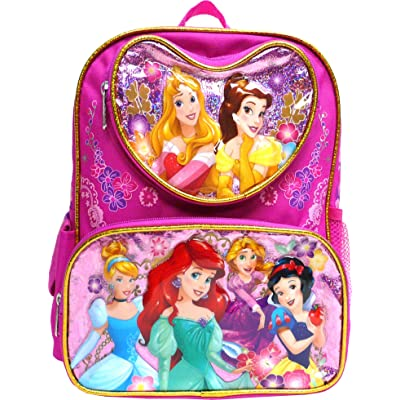 "Disney Princess Mermaid & Snow white 16"" Large Backpack- 17551 
