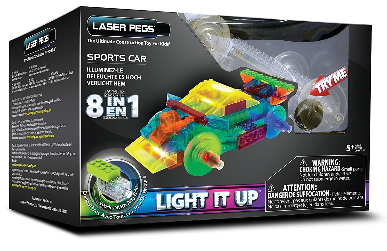 Laser Pegs PB1410B 8in 1Power Block Sport Auto Konstruktion Set