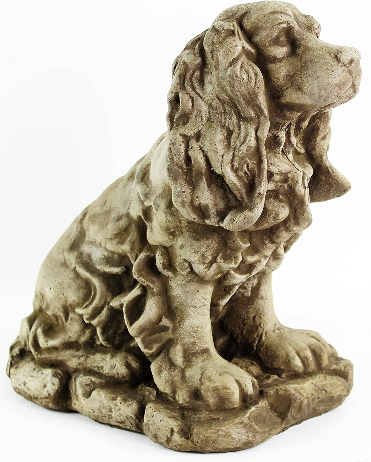 Dog Statue Cocker Spaniel Outdoor Garden Statues Puppy Cement Dog Figure Doggy Sculpture