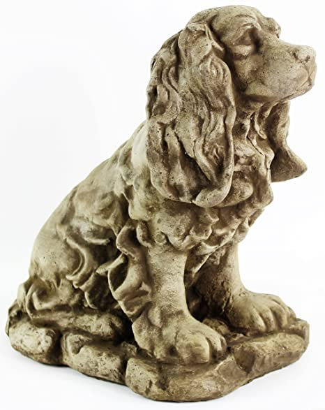 Cocker Spaniel Concrete Outdoor Garden Statue Puppy Cement Dog Figure Doggy  Sculpture