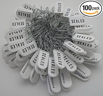 100 Plastic Security Ties Sequentially Numbered
