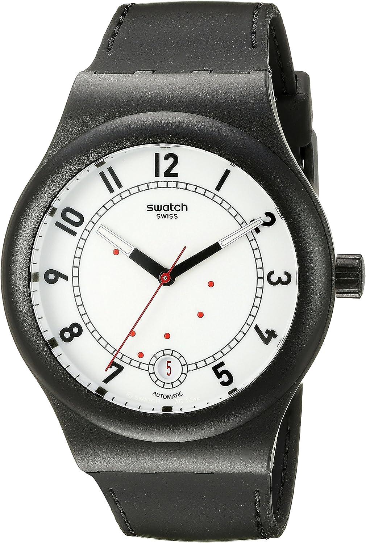 Swatch Reloj Analogico para Hombre de Automático con Correa en Silicona SUTB402