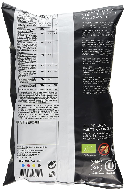 Amazon.com : Lukes Organic - Chips - Cha-Cha-Cha Chia Seed ...
