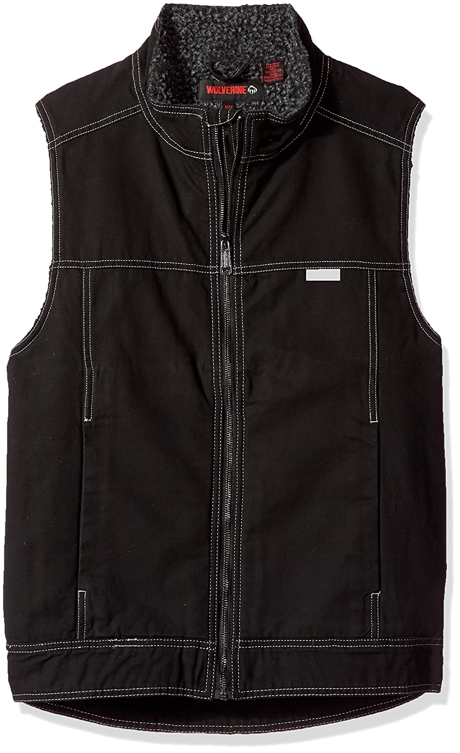 Amazon.com: Wolverine Men\'s Porter Sherpa Lined Vest: Clothing