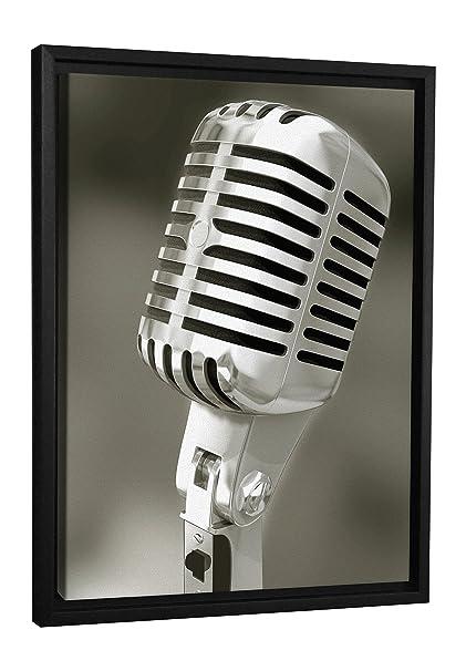 Jp Londres Fcnv0067 Retro Decoracion De Pared Lona Microfono Radio