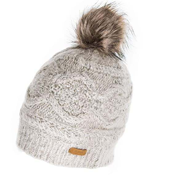 b586c4e38c1ef Barts Antonia Faux Fur Bobble Hat - Cream  Amazon.co.uk  Clothing