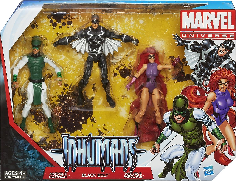 HASBRO Marvel Universe INHUMANS Multi-Pack KARNAK BLACK BOLT MEDUSA figures set