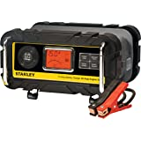 STANLEY BC15BS Fully Automatic 15 Amp 12V Bench Battery Charger/Maintainer with 40A Engine Start, Alternator Check, Cable Cla