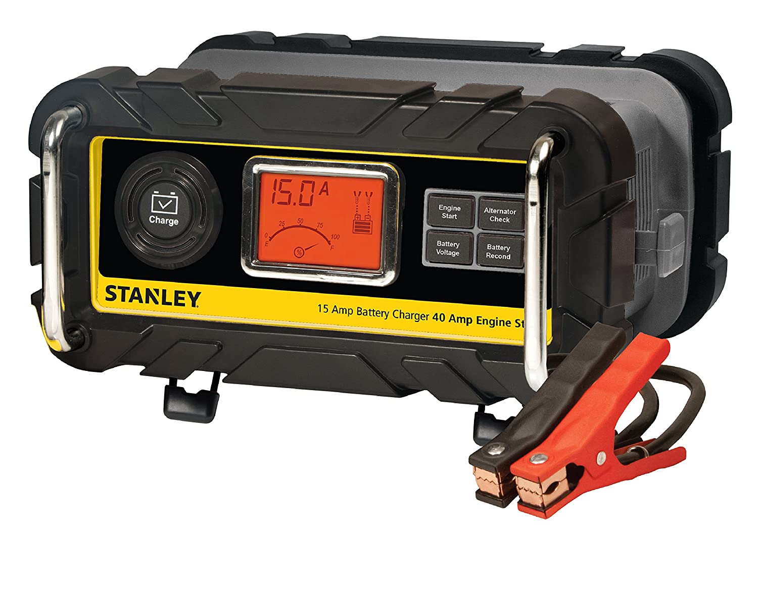 Stanley Bc15bs 15 Amp Bench Battery Charger With 40 Walker Mower Wiring Diagram For Charging Unit Engine Start And Alternator Check Automotive