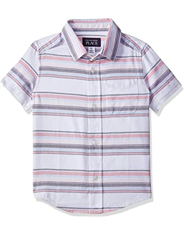 593f111e968b The Children s Place Baby Boys Printed Short Sleeve Button Down