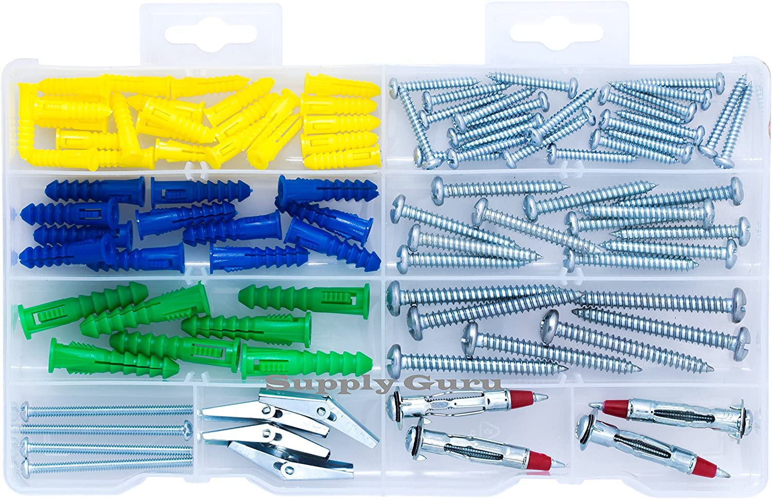 Wings for Drywall Toggle Bolts Heavy Duty Masonry Set Qualihome Anchor Assortment Kit Molly Bolts Anchors Tile Hollow Wall Plaster Screws
