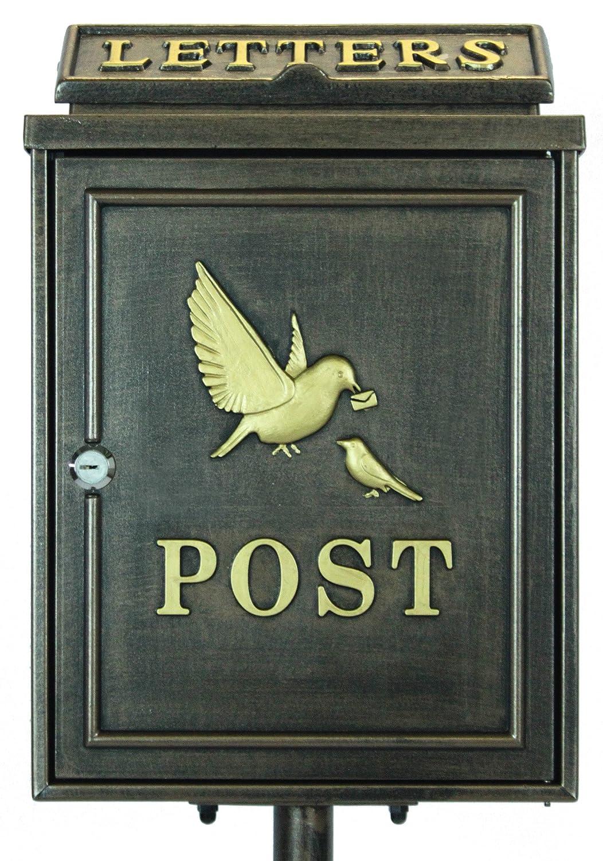 サンニード ポストスタンド XZ-15 鳥の親子 幅33cm 奥行23cm 高さ118cm 鍵付き 鋳物 鋳造 B073P3SVPQ 17800 鳥の親子 鳥の親子