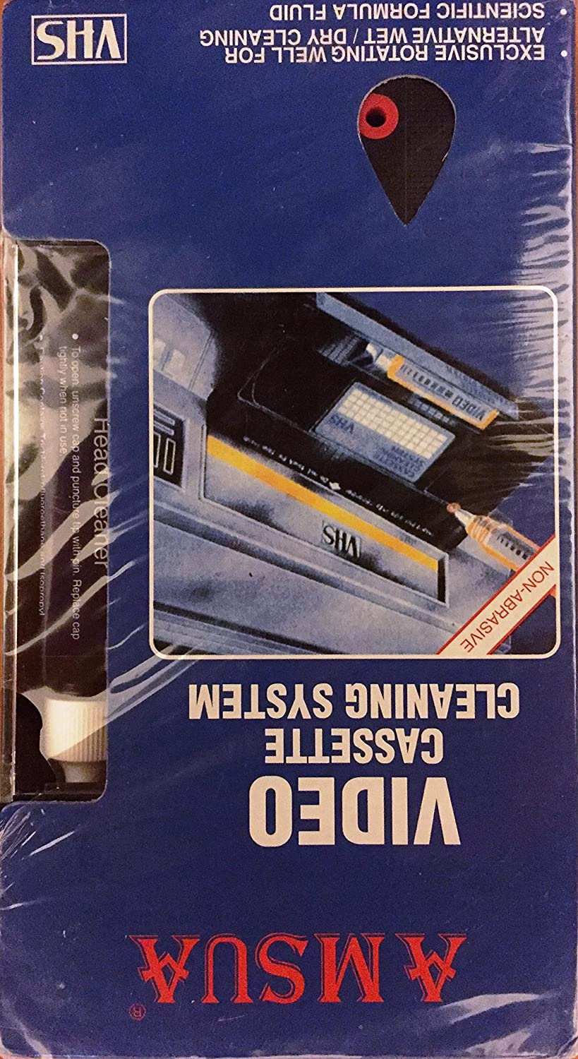 Vhs Svhs Video Tape Head Cassette Cleaning System Halloa Screen Clean Kit Hn 4822 Vcr Cleaner Wet Dry With Fluid