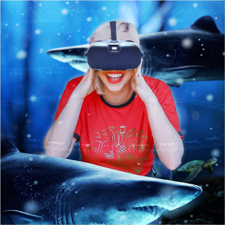 IOS et Android Smartphones Lunettes de R/éalit/é Augment/ée HD Telephones 4-6.3 iPhone // LG // Huawei // Sony CURVAN VR Headset 3D Casque de Realite Virtuelle pour Jeux et Films en 3D