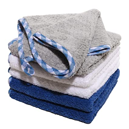 Luckiss Plush Microfiber Dish Cloths Ultra Absorbent Quick Dry Kitchen Rags  For Drying And Washing Dishes