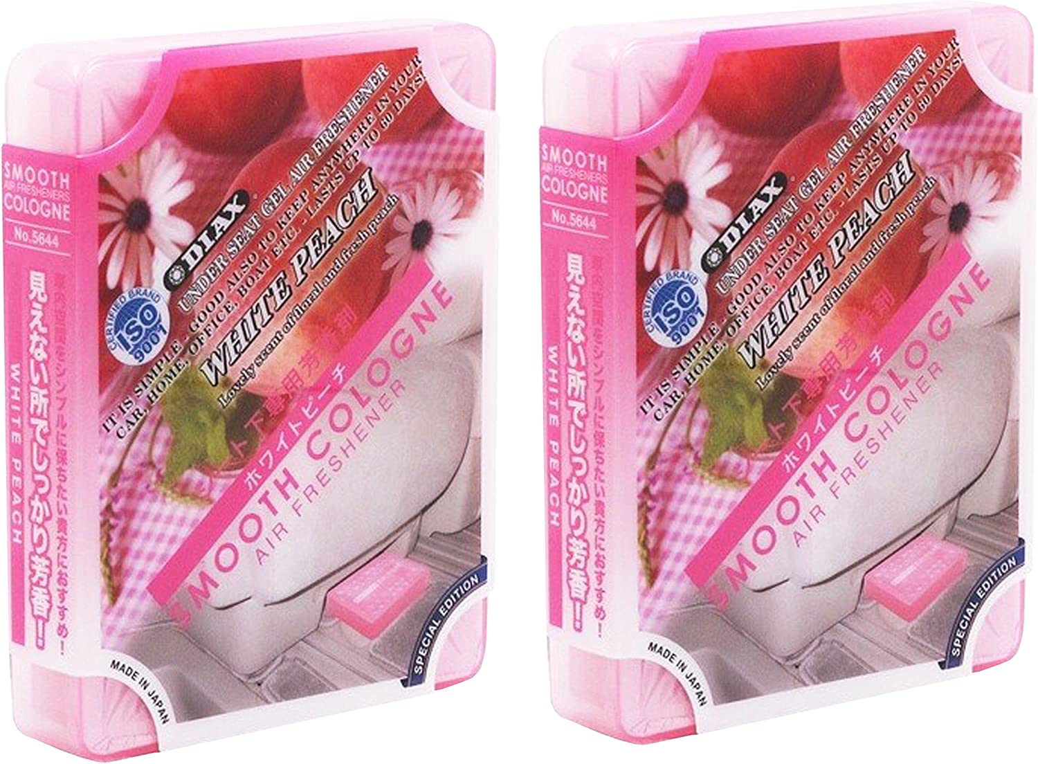 Smooth Cologne 2-Pack White Peach Scent Luxury Air Freshener JDM Genuine Diax Japan for Home/Office/Car/auto/RV