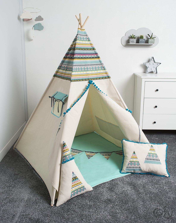 Handmade Spielzelt, Kinderzelt, Indianisches Tipi Zelt, handmade, spielzelt, tipi, kinderzelt, play tent, kids tent, teepee, tipi, indianische Teepee Indian set 6 Elemente