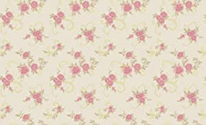 Wallpaper decorated with red flowers, size 15 5&1 06 meters model 55564