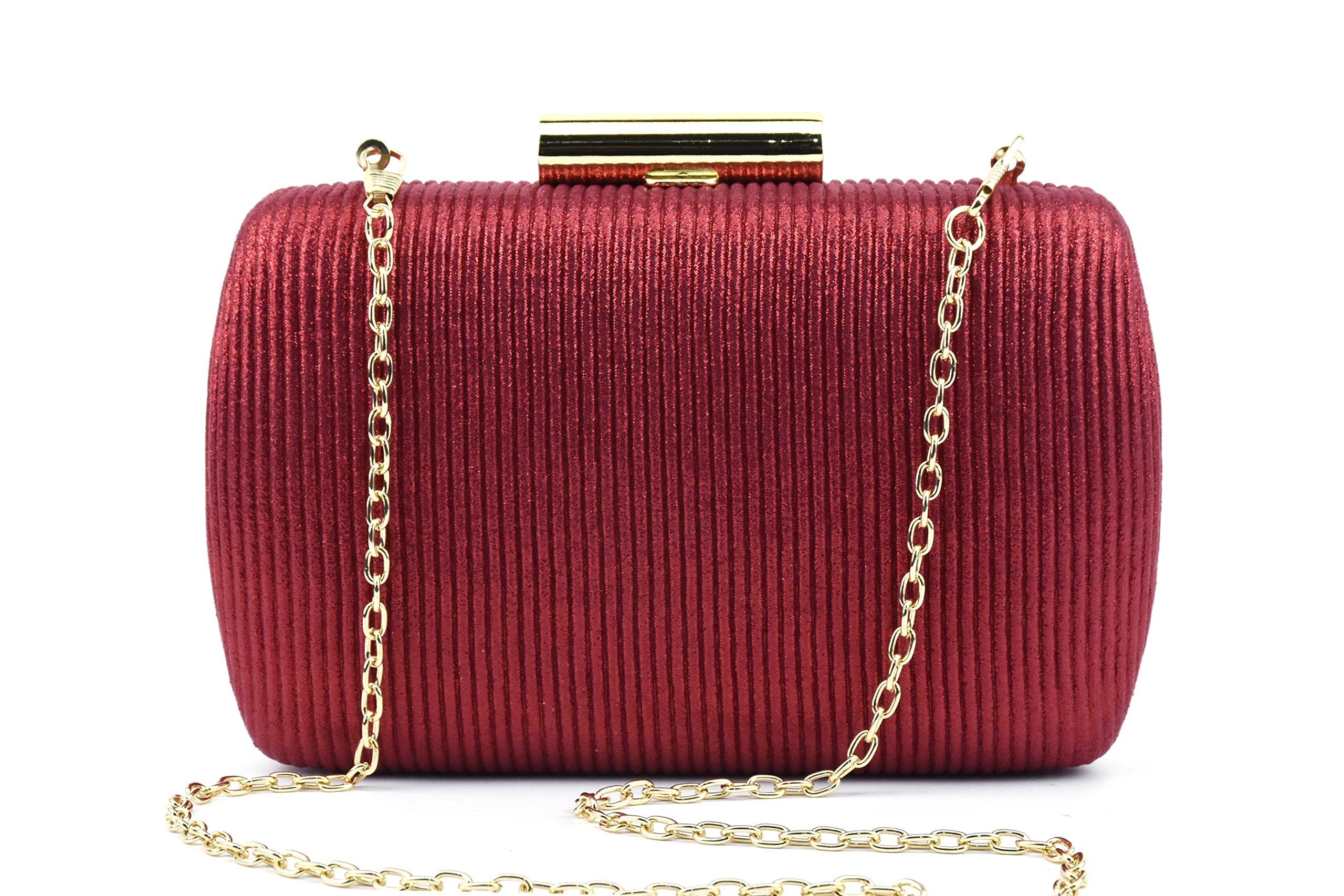 Ruiatoo Evening Clutch Purse Muti-color Clutch Handbag For Women Party/Wedding Bag Red